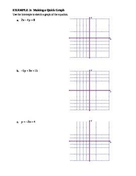 4.3 Quick Graphs Using Intercepts