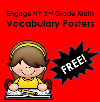 Engage New York 2nd Grade Math- 39 Vocab. Posters Available in 11 Styles