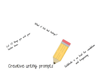 43 things to write about! (Prompt cards/Writing Stimulus)