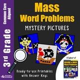 Multiply, Divide, Add, Subtract Mass Word Problem Activities 3rd Grade Fun Math