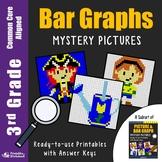 Bar Graph Homework Coloring Worksheets, 3rd Grade Math Graphing