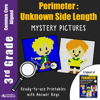Find The Missing Side, Perimeter 3rd Grade Fun Worksheets