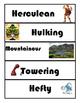 435 Word Synonym Wall-Elementary/Middle/ESOL