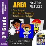3rd Grade Area Distributive Property, Area of Rectilinear Figures / Shapes