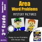 3rd Grade Area Word Problems Worksheets
