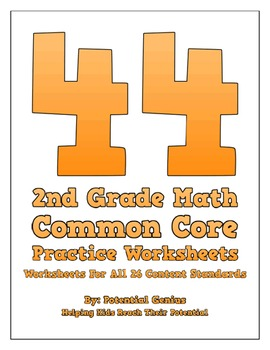44 2nd Grade Math Common Core Practice Worksheets