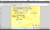 4.4, 4.6, 5.2-5.4, and 5.6 - Graphing Linear Equations Review Video