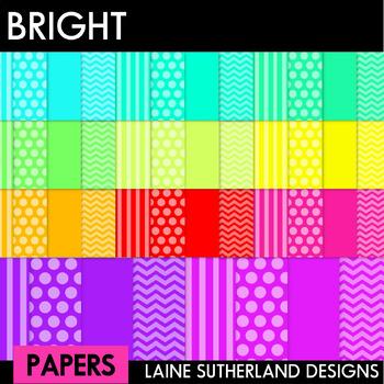 44 Bright Digi Papers