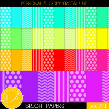 44 Bright Digi Papers