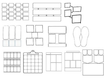 44 Editable Graphic Organizers Interactive Notebook Templates IEP Accommodations