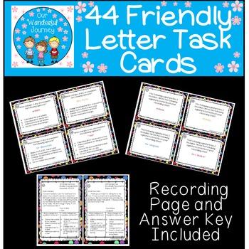 44 Friendly Letter Task Cards