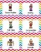 44 Library Book Bin Labels (Genre, Pictures, & Levels)  Rainbow Chevron Theme