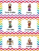 Library Book Bin Labels (Genre, Pictures, & Levels)  Rainbow Chevron Theme