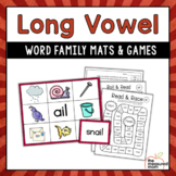Long Vowel Word Family Mats & Games