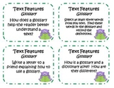 44 Nonfiction Text Features Task Cards