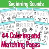 44 Page Beginning Sounds Alphabet Worksheet Pack