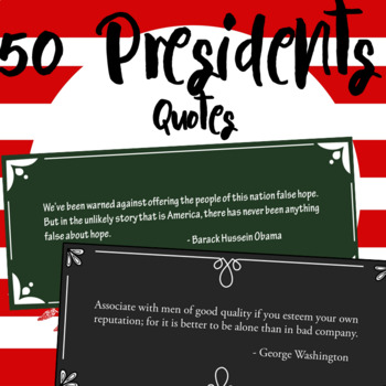 44 Presidents Quotes Pack