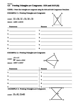 4.4 Proving Triangles are Congruent ASA and AAS (B)