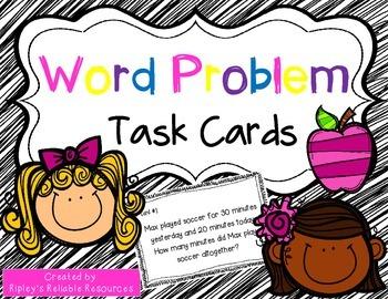 44 Word Problem Task Cards