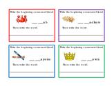44 Task Card Beginning Consonant Blend Letter Writing Read