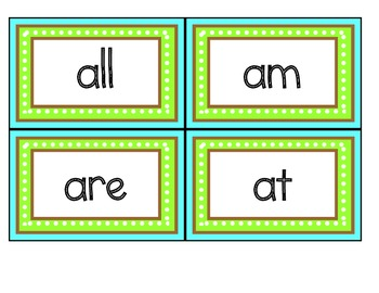 44 dolch words/sight words