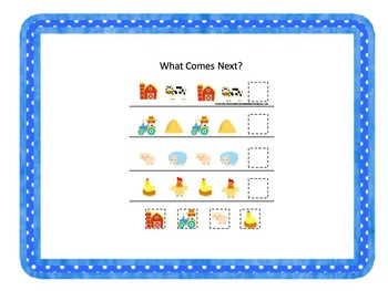 44 preschool curriculum games.  Farm, Cowboy, Weather, Oz.
