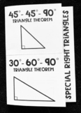 Special Right Triangles 45-45-90 and 30-60-90 Geometry Foldable