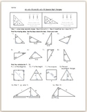 45-45-90 and 30-60-90 Special Right Triangles - Practice/HW