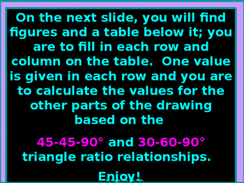 Activity Math Lab:  45-45-90 and 30-60-90 Triangle Puzzle
