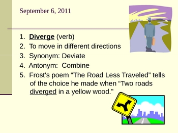 Illustrated 45 ACT or SAT vocabulary words with reviews and tests
