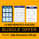45 Algebra and Geometry Posters - Bundle Offer