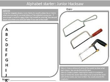 45 Alphabet Analysers Resistant Materials Wood-Shop Literacy Keyword Settlers