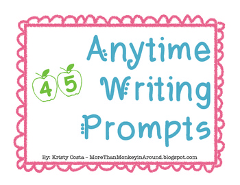 45 Black and White Anytime Prompt Cards