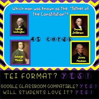 Virginia Studies SOL Review New Nation Boom Cards  VS 6 & 10