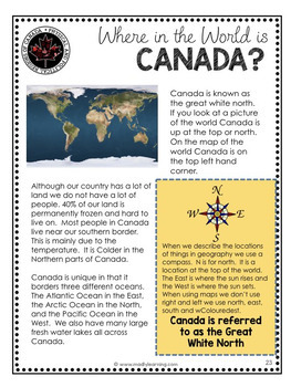 Canadian Physical Regions and Government: Ontario Social Studies Unit