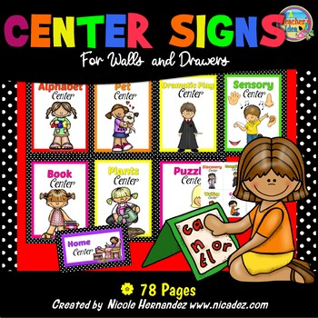 Center Signs for Walls and Drawers - Pretty Sassy Colors