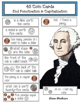 """45 """"Fix The Sentence"""" Coin Cards"""