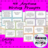 45 Colored Anytime Writing Prompt Cards