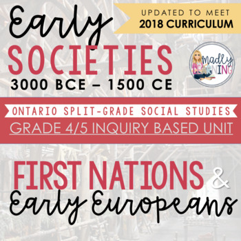 ONTARIO: GR. 4/5 First Nations/Europeans and Early Societies: An Inquiry Unit
