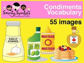 Condiments Set: 45 PNG Images