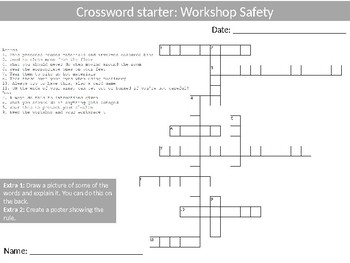 45 Crosswords Resistant Materials Wood-Shop Literacy Keyword Settlers