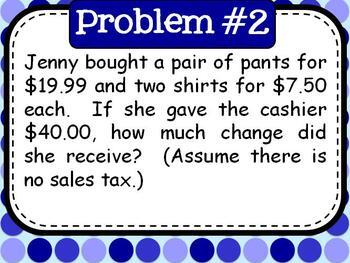 45 Daily Middle School Math Word Problems - Set 1
