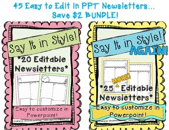 45 Editable Newsletter Templates- BUNDLE!