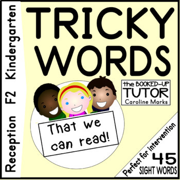 High Frequency UK SIGHT Words 45 F2 Reception Workbook