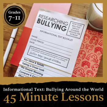 45 Minute Lesson Informational Text Foldable: Bullying Around the World