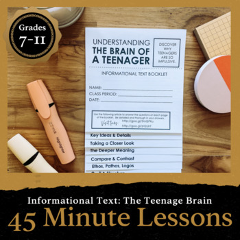 45 Minute Lesson Informational Text Foldable: Exploring the Teenage Brain