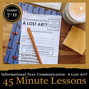 45 Minute Lesson Informational Text Foldable: The Lost Art