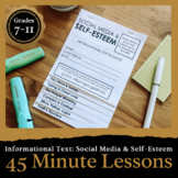 45 Minute Lesson Informational Text Foldable: The Media & Self Esteem
