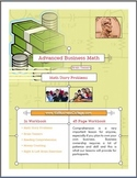 45 Page Workbook-Brain Teasers Math Story Problems Right &