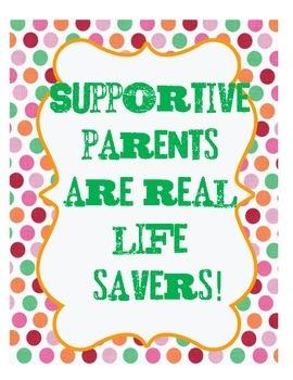 45 Parent Appreciation Labels and Signs